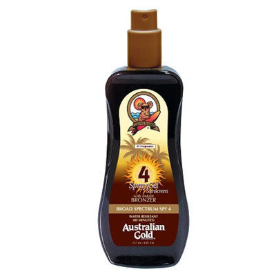 Australian Gold Spray Gel with Instant Bronzer SPF 4