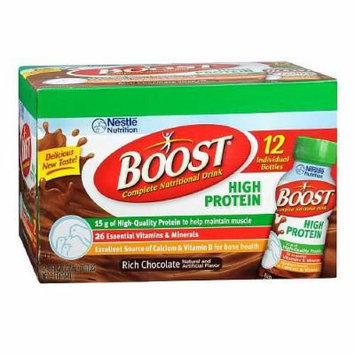 Boost High Protein Complete Nutritional Drink, Bottles, Rich Chocolate 96 fl oz