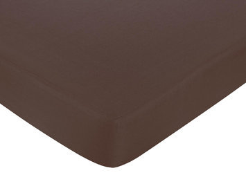 Jojo Designs, Llc. Sweet Jojo Designs Hotel Blue and Brown Collection Fitted Crib Sheet - Solid Brown