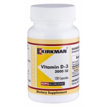 Vitamin D-3 2000 IU Capsules - Hypo - 120 ct