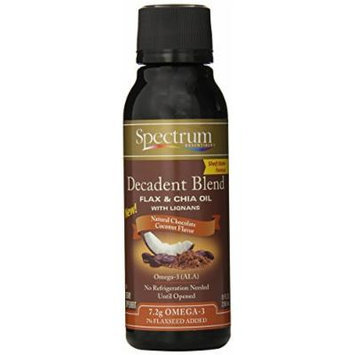 Spectrum Decadent Blend Flax and Chia Oil, 8 Ounce