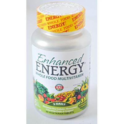 Kal Enhanced Energy Whole Food Multivitamin 3 Daily 90 Vegetarian Tablets