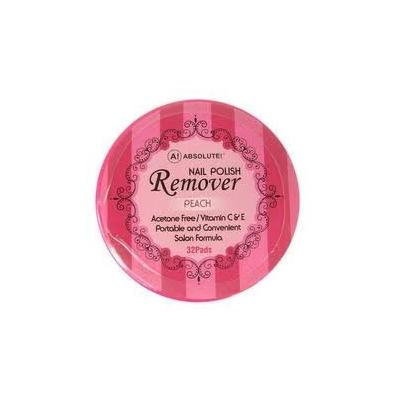 Absolute Nail Polish Remover Pads Peach Scent - 4 pieces