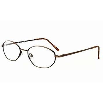 Calabria MetaFlex Q Ant Brown Reading Glasses ; DEMO LENS