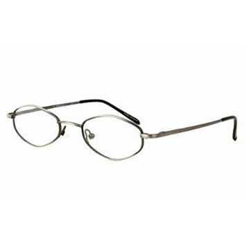 Calabria MetalFlex U Pewter Reading Glasses 48mm ; DEMO LENS