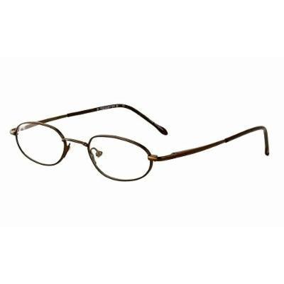 Calabria Trendsetter 20 Brown Reading Glasses ; DEMO LENS