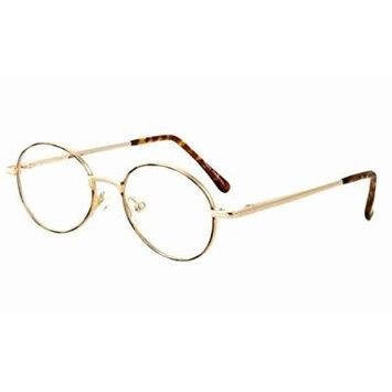 Calabria MetaFlex L Gold-Demi 38mm Reading Glasses ; DEMO LENS