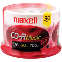 Maxell CDR-80MU/30SP 32x CD-R For Music - 30 Spindle