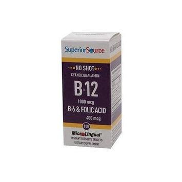 Superior Source No Shot B6/B12/Folic Acid , Disolve Tablets 100 ea