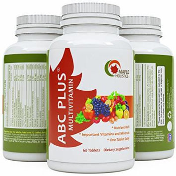 All Natural Multivitamin By Maple Holistics - For Men and Women of All Ages - Contains Every Mineral, Vitamin and Nutrient the Human Body Needs - 60 Day Supply - Most Comprehensive Multivitamin Available - Guaranteed By Maple Holistics