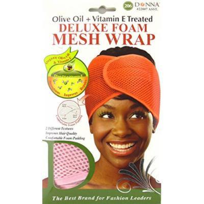 Donna Deluxe Foam Mesh Wrap, Olive Oil + Vitamin E Treated - #22007 Pink