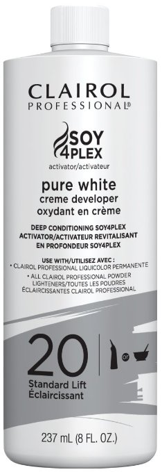 Clairol Professional Soy4plex Pure White Creme Hair Color Developer - 20
