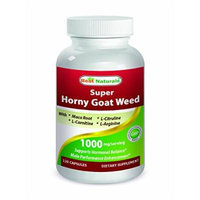 Best Naturals Horny Goat Weed with Maca Root, 120 Capsules