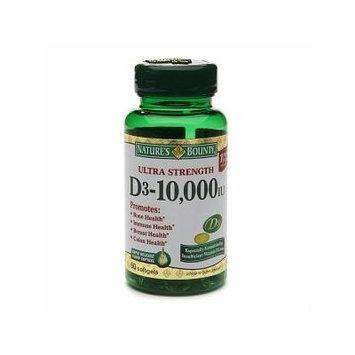 Nature's Bounty Ultra Strength Vitamin D-3 10,000 IU, Softgels 60 ea