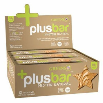 Greens Plus Plusbar, Protein Bars, Natural 12 ea