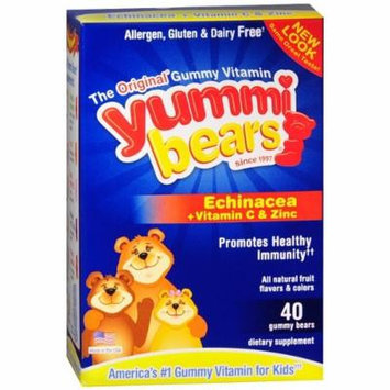 Yummi Bears Echinacea with Vitamin C & Zinc, Gummy Bears 40 ea