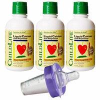 Child Life Liquid Calcium/Magnesium, 16 Fl.Oz. (474 mL) - 3 Pack with Medicator Medicine Dispenser
