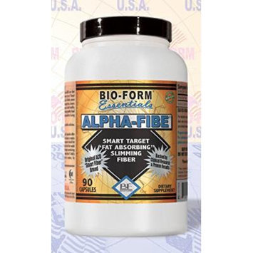 Alpha-Fibe Fat Absorbing Smart Target Slimming Fiber (90 Fast-Acting Capsules) The Original and Only 100% Pure Alpha-Cyclodextrin (ACD)Weight Loss Fiber by Bio-Form Essentials