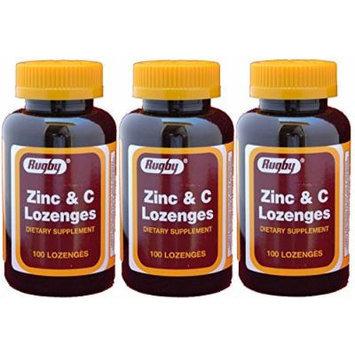 Zinc 15mg and Vitamin C 30mg as (Ascorbic Acid) Dietary Supplement Lemon Flavor 100 Lozenges per Bottle Pack of 3 Bottles 300 Lozenges