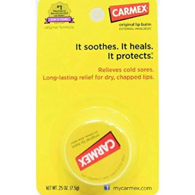 Carmex Original Formula Lip Balm 0.25 Ounces External Analgesic (Pack of 2)