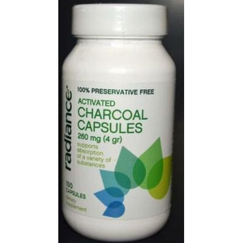 Activated Charcoal Capsules 260 mg (4 gr) 100 capsules
