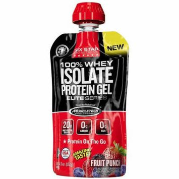 Six Star Pro Nutrition 100% Whey Isolate Protein Gel, Fruit Punch, 4.3 oz