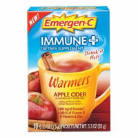 Emergen-C Immune+ Warmers, Apple Cider 10 Count (Pack of 4)
