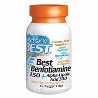 Doctor's Best Best Benfotiamine 150 + Alpha Lipoic Acid 300, Veggie Caps 60 ea
