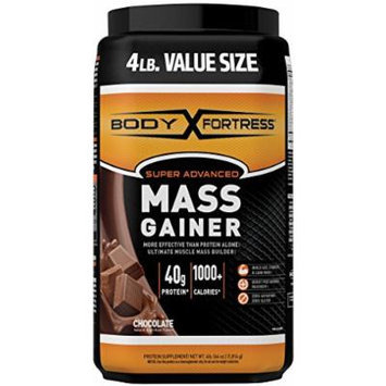 Body Fortress Super Advanced Mass Gainer, Chocolate, 4 Pounds