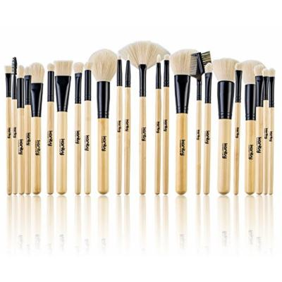 Studio Quality Jet-Set Bamboo 24 Piece Premium Synthetic Cosmetic Makeup Brush Brushes Set Kit with Pouch Case Bag (Jet Black)
