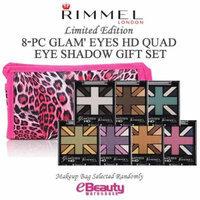 8PC GIFT SET- RIMMEL LONDON Glam' Eyes HD Quad Eye Shadow