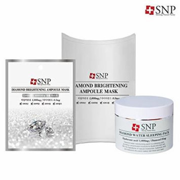 [SNP Cosmetic] Bird's Nest & Gold Collagen & Diamond Set (Diamond Sleeping Pack 100g + Mask 10ea)