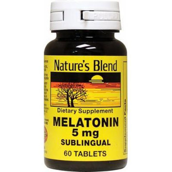 Nature's Blend Melatonin 5 mg Sublingual Tablets 60 CT (PACK OF 4)