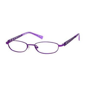 Seventeen 5334 in Purple Designer Reading Glass Frames ; Demo Lens