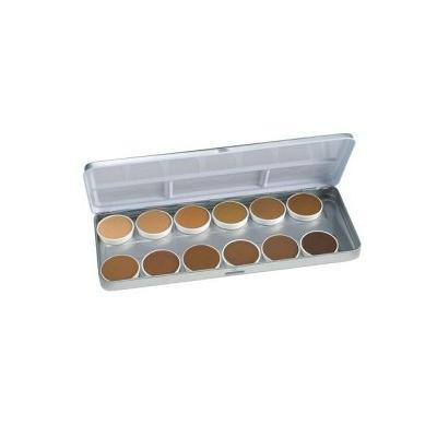 Ben Nye Olive & Brown Matte Foundation Palette BFP-12 - refillable in metal box!