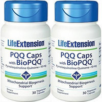 LIFE EXTENSION PQQ CAPS WITH BIOPQQ, 10 mg, 30 capsules, (pack of 2)