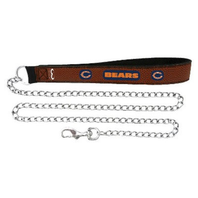 GameWear Chicago Bears Football Leather 2.5mm Chain Leash - M