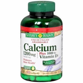 Nature's Bounty Calcium 1200mg Plus 1000IU Vitamin D3 100 ea