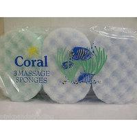 3 X PACKS OF CORAL BATH MASSAGE SPONGES PACKS OF 3 MULTI COLOURS 14.5x9.5x4.5CM
