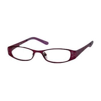 Seventeen 5335 in Purple Designer Reading Glass Frames ; Demo Lens