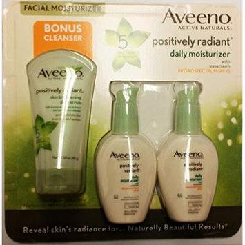 Aveeno® Positively Radiant Daily Moisturizer SPF 15, Bonus Cleanser