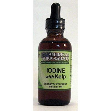 Iodine with Kelp American Supplements 2 oz Liquid