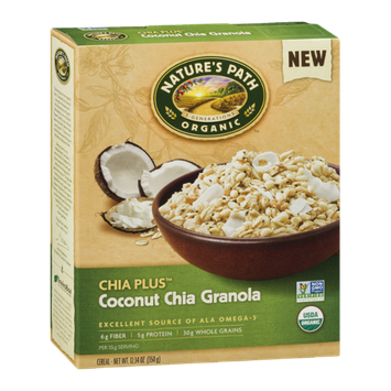 Nature's Path Organic Chia Plus Coconut Chia Granola Cereal