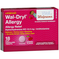 Walgreens Wal-Dryl Children's Allergy Relief Fast Dissolving Tablets Cherry