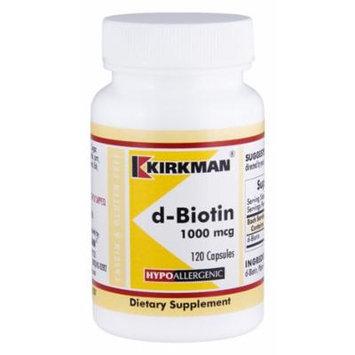 d-Biotin 1000 mcg Capsules - Hypo - 120 count