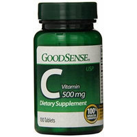 GoodSense Vitamin C Dietary Supplement Tablets, 500 mg, 100 Count