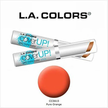 2 Pack L.A. Colors Cosmetics Cover Up! Pro Concealer Stick 615 Pure Orange