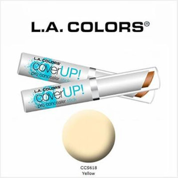 2 Pack L.A. Colors Cosmetics Cover Up! Pro Concealer Stick 618 Yellow