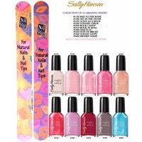 SALLY HANSEN Hard as Nails Nail Color COLLECTION OF 10 SHADES (FULL SIZE BOTTLES) (0.45 fl. Oz/13.3 ml) Each Bottle PLUS 2 (Free Nail File From fetish for Natural Nails And Nail Tips)