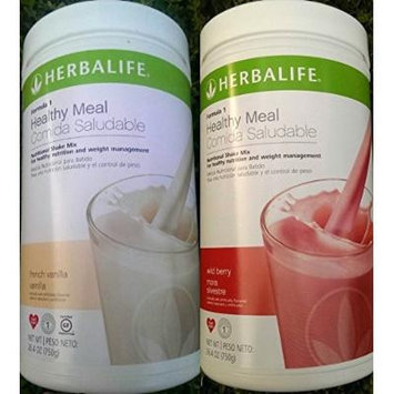 2 HERBALIFE FORMULA 1 NUTRITIONAL SHAKE FRENCH VANILLA AND WILD BERRY MIX Shipped from USA And Fast Shipping